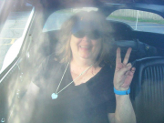 me in Bill's car..