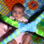 Paige on her play mat