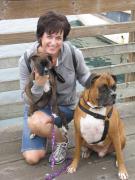 My puppies and I had fun at the coast