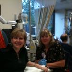 Me & Nurse Cindy today at Chemo