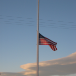 In honor of dad,Our family flag is at half-mast. We love you~