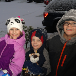 My 3 munchkins enjoying a rare Seattle area snowfall!