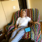 daddy getting some MUCH needed rest