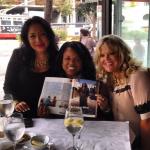 Friends celebrating my magazine article
