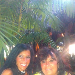 My mom and I in Fla
