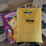 Olivia's tote for coloring books and crayons