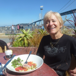 Matha and San Francisco Bay Bridge in Background