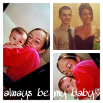 my son and I when he was a baby &present day♡